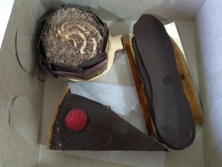 Tiramisu, Chocolate Eclair, Chocolate Tart