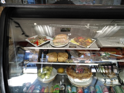 Food in the display case