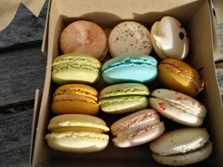 Dozen assorted macarons