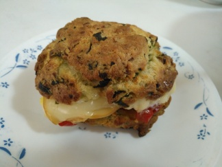 Spinach and Blue Cheese Breakfast Scone