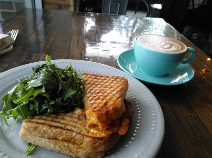 Grilled Cheese Sandwich & Mocha